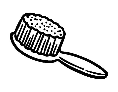 Coloring Page Hair Brush | hairbrush coloring page coloringcrew com