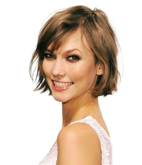 how to roll hair for a chin length bob side part karlie kloss breathe new life into fine hair with a chin