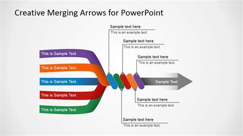 7196 01 4 step arrow diagram 1 slidemodel slide with 5 arrows converging in 1 arrow slidemodel