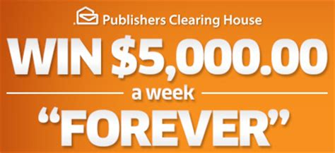 Publisher Clearing House 5000 A Week For Life - publishers clearing house 5 000 a week for life good thing or bad thing