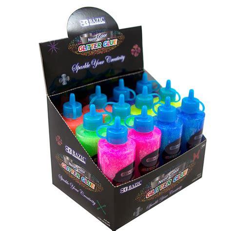 neon wholesale 4 oz 120 ml neon color glitter glue