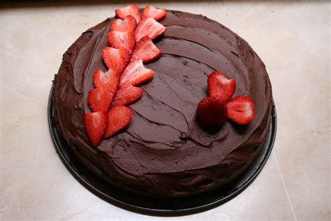 How To Decorate Cake With Chocolate by Strawberry And Chocolate Birthday Cake Sunday Baking