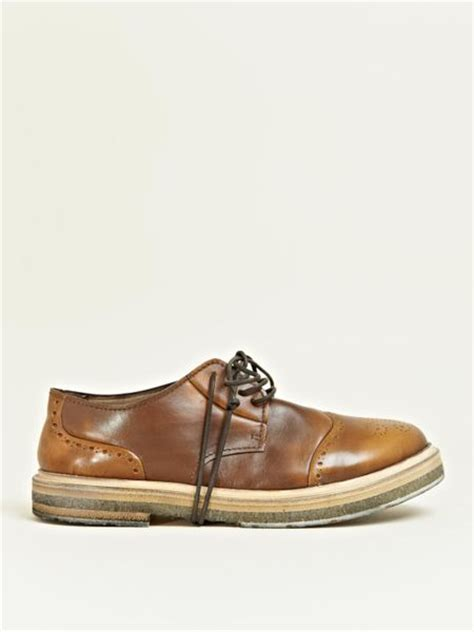 marsell shoes marsell marsell mens brogue barcellona senape shoes in