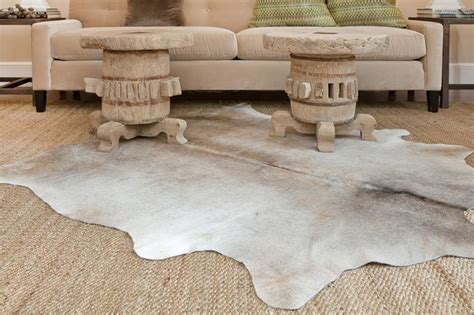 Grey Animal Skin Rug Muted Gray And Cowhide Rugs San Francisco By Mack