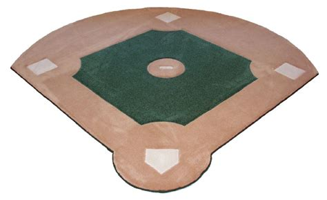 custom baseball field rug back in stock