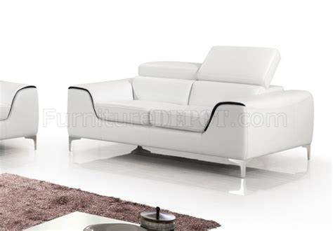 7027 sofa loveseat in white bonded leather by american eagle