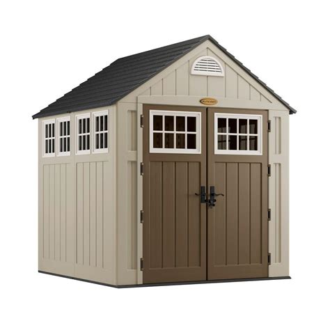 suncast alpine resin storage tool shed walk  outdoor