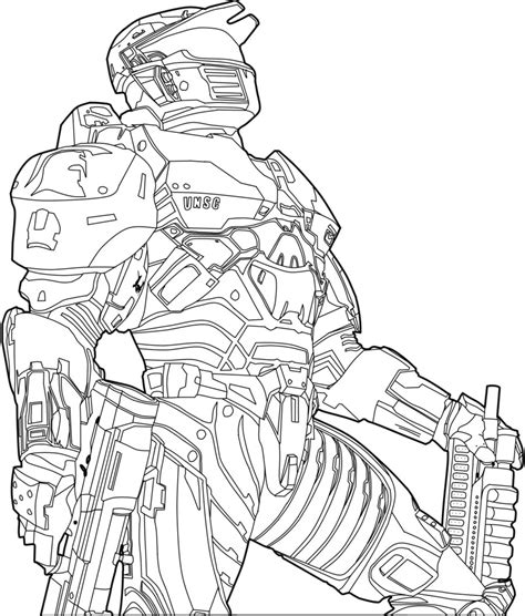 printable halo images the alien on halo coloring pages