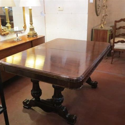 sold 660 vintage antique walnut jacobean style dining