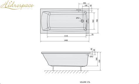 misure vasca bagno pratika 120 130 140 150 x70 vasca da bagno rettangolare
