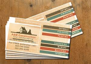 construction business cards sles business cards for construction company graphic design print and web services in wilmington