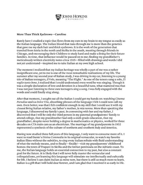Personal College Essay by Doc 12751650 Personal Statement Exles For High School Students Bizdoska