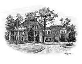 house sketch house sketches drawn from a photo great realtor client gift
