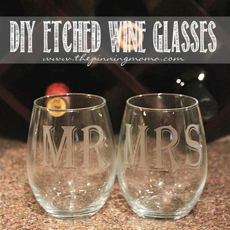 etched barware how to make etched glass wine glasses the pinning mama