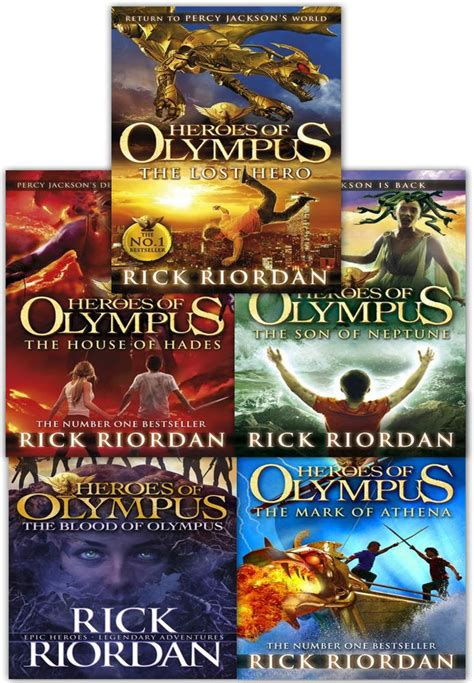 Novel Rick Riordan The House Of Hades heroes of olympus collection 5 books set pack rick riordan