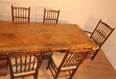 Oak Kitchen Table And Chairs Oak Kitchen Diner Chair Set Refectory Table And Spindleback Chairs