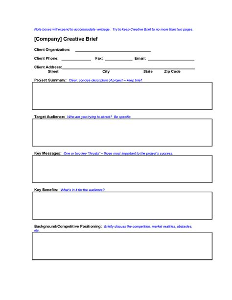 marketing creative brief google search marketing forms