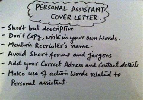 12 personal assistant cover letter informal letters personal