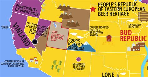 united states map the united states of alcohol vinepair