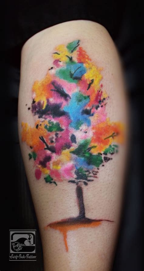 watercolor tattoo uk watercolour tree aquarell watercolor