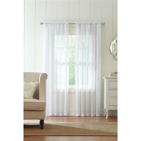 white textured curtains home decorators collection sheer white highline textured