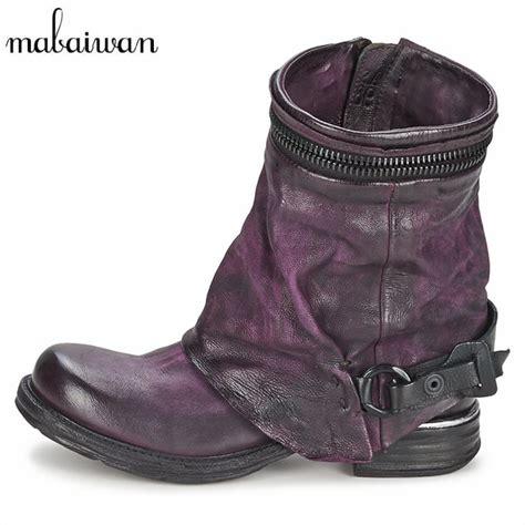 motorbike boots for short riders mabaiwan genuine leather women autumn winter boots vinatge