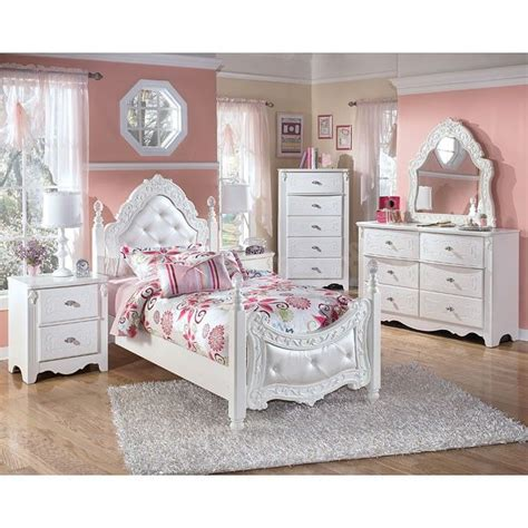 exquisite white poster bed set  upholstered head  foot board  perfect