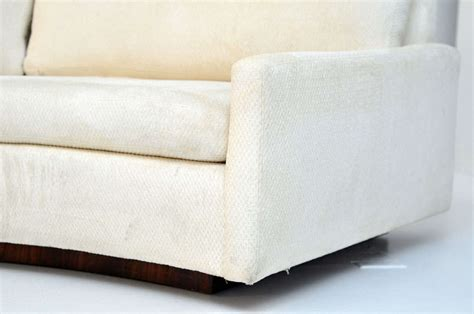 semi sofa milo baughman semi circle sofa w console table at 1stdibs