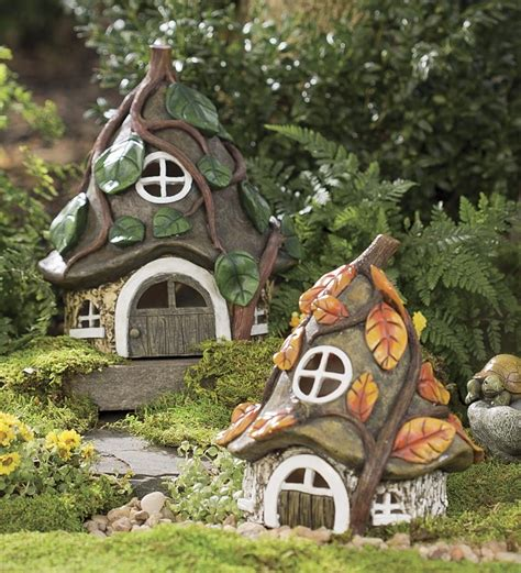 gnome house resin pixie house garden whimsy