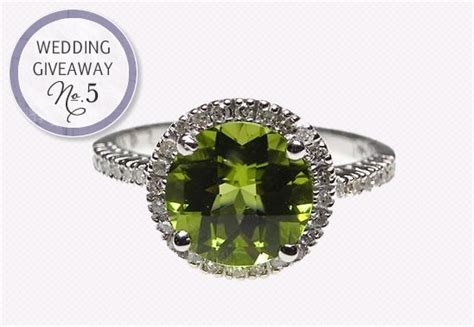 Engagement Ring Giveaway - wedding giveaway win a peridot diamond halo engagement ring