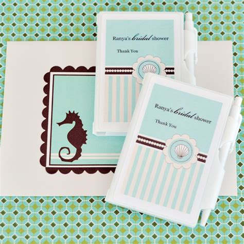 Notebook Giveaways - personalized notebook favors beach party