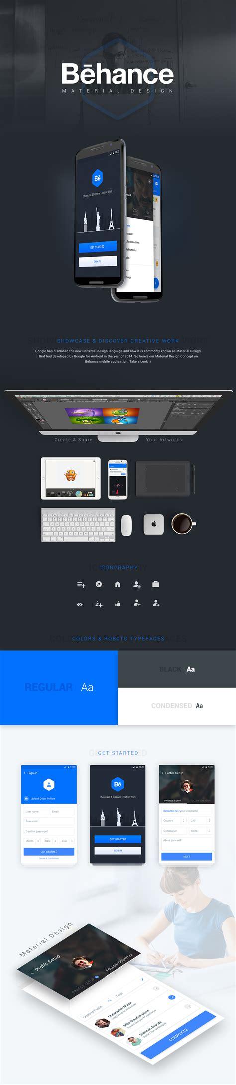 web layout behance behance material design on behance