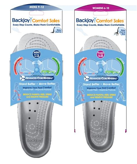 backjoy silver comfort insoles shoe inserts orthotic shop