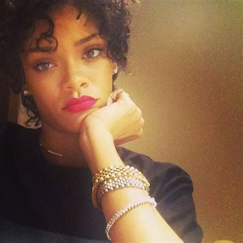 instagram short hairstyles for black rihanna debuts new short curly hair style on instagram