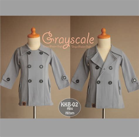 Jaket Anak Korean Kiddos 07 Grayscale Size 2 6 jaket anak unik celanarokmuslimah