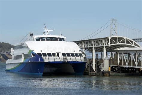 fast boat docking ocean ferries stock photo image of ocean ship dock