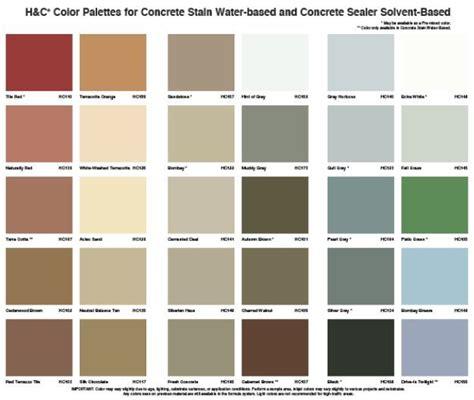 color palettes  concrete stain home