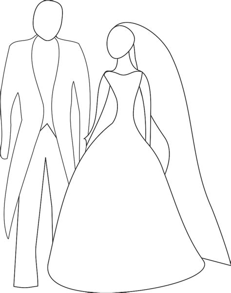 And Groom Outline Drawing and groom outline clipart 46