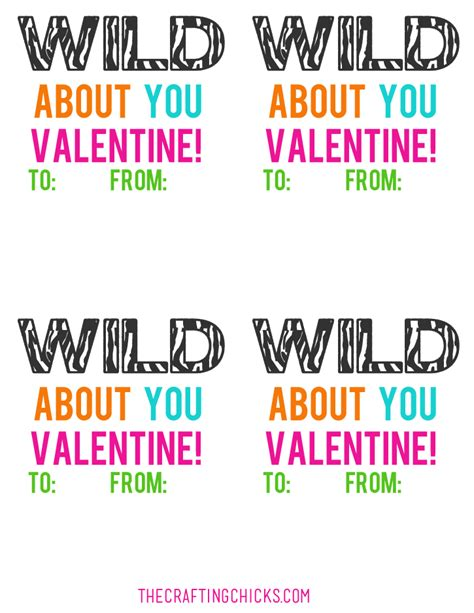 I'm Wild About You Slap Bracelet Valentines   The Crafting