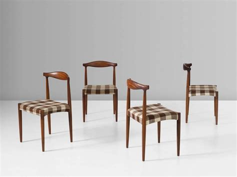 danish dining room furniture set of four danish dining room chairs in rosewood for sale