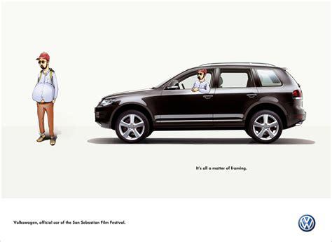 volkswagen ddb volkswagen print advert by ddb framing 3 ads of the world