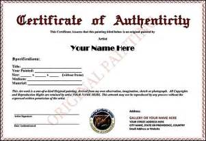 authenticity certificate template certificate of authenticity template sle templates