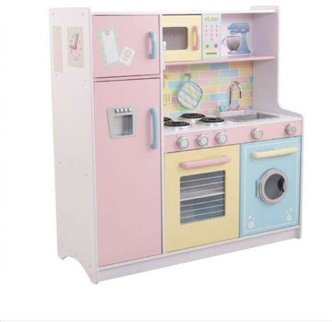 kidkraft large pastel kitchen large children s pastel kidkraft sturdy wooden kitchen play toys in plymouth