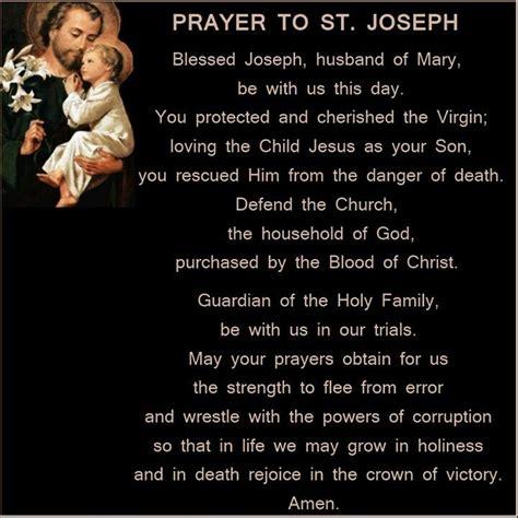 prayer to st st joseph prayer religion