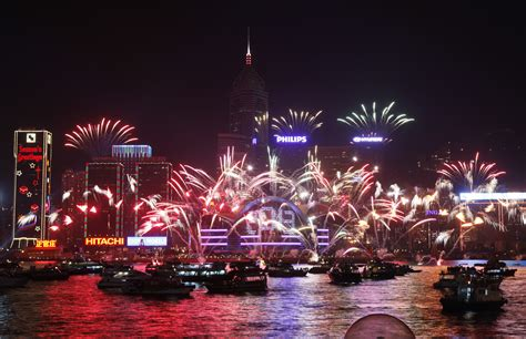 when is the new year fireworks in hong kong new year s 2012 welcomes 2013 with a