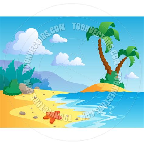 beach themed drawing scene or landscape clipart clipground