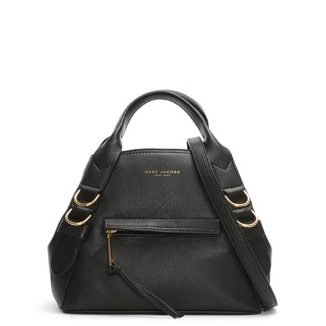 Totebag Anchor Black marc small anchor black leather tote bag