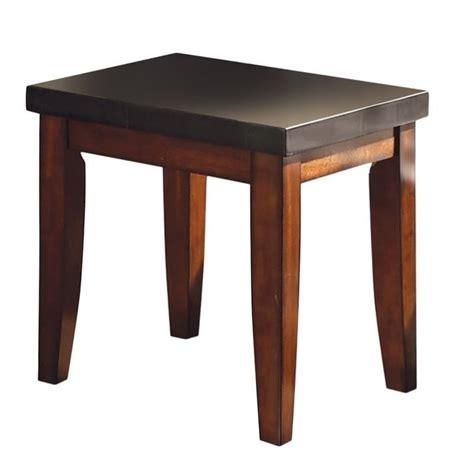 granite top tables steve silver company montibello granite top end table mg700e
