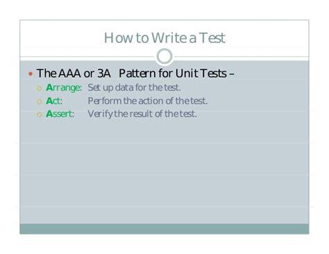 aaa pattern unit test test driven ios development tdd