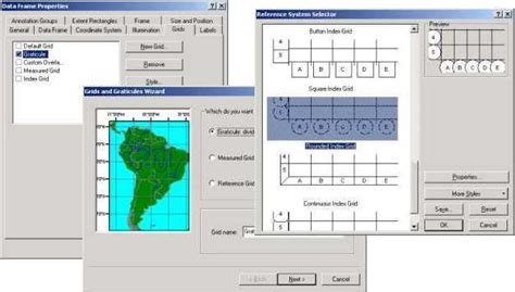 arcgis layout view coordinates clippable index grid exle